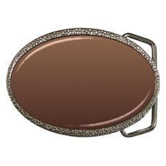 Chamoisee To Seal Brown Gradient Belt Buckle (Oval)