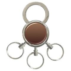 Chamoisee To Seal Brown Gradient 3-Ring Key Chain