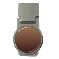 Chamoisee To Seal Brown Gradient Money Clip (Round)