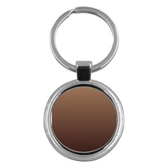 Chamoisee To Seal Brown Gradient Key Chain (round)