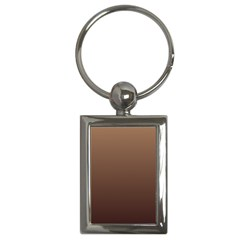 Chamoisee To Seal Brown Gradient Key Chain (rectangle)