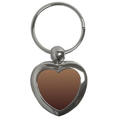 Chamoisee To Seal Brown Gradient Key Chain (heart)