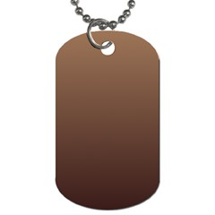 Chamoisee To Seal Brown Gradient Dog Tag (one Sided)