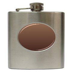 Chamoisee To Seal Brown Gradient Hip Flask