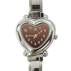 Chamoisee To Seal Brown Gradient Heart Italian Charm Watch