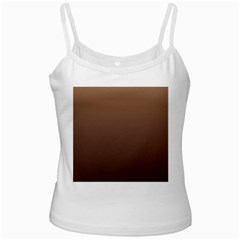 Chamoisee To Seal Brown Gradient White Spaghetti Top