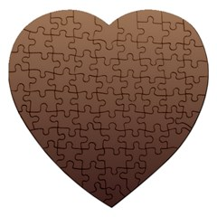 Chamoisee To Seal Brown Gradient Jigsaw Puzzle (heart)
