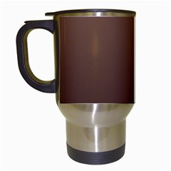 Chamoisee To Seal Brown Gradient Travel Mug (white)
