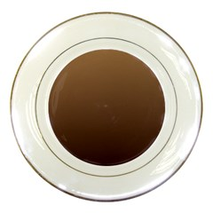 Chamoisee To Seal Brown Gradient Porcelain Display Plate