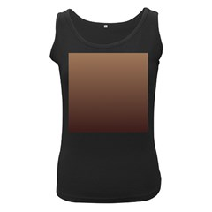 Chamoisee To Seal Brown Gradient Womens  Tank Top (Black)