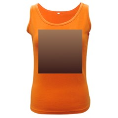 Chamoisee To Seal Brown Gradient Womens  Tank Top (Dark Colored)