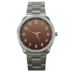 Chamoisee To Seal Brown Gradient Sport Metal Watch