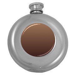 Chamoisee To Seal Brown Gradient Hip Flask (Round)
