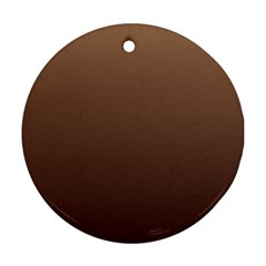 Chamoisee To Seal Brown Gradient Round Ornament (Two Sides)