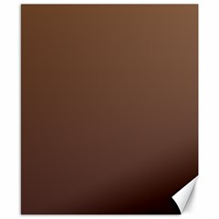 Chamoisee To Seal Brown Gradient Canvas 8  x 10  (Unframed)