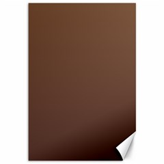 Chamoisee To Seal Brown Gradient Canvas 12  X 18  (unframed)
