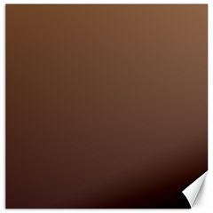 Chamoisee To Seal Brown Gradient Canvas 20  X 20  (unframed)