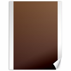 Chamoisee To Seal Brown Gradient Canvas 18  X 24  (unframed)