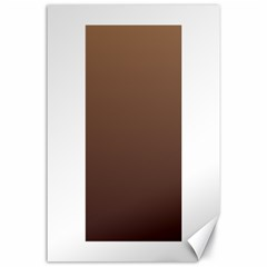 Chamoisee To Seal Brown Gradient Canvas 24  x 36  (Unframed)