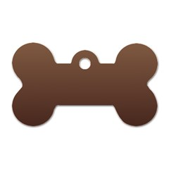 Chamoisee To Seal Brown Gradient Dog Tag Bone (two Sided)