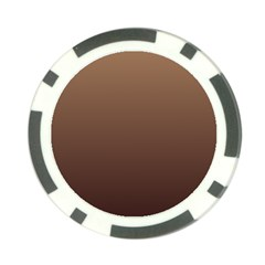 Chamoisee To Seal Brown Gradient Poker Chip