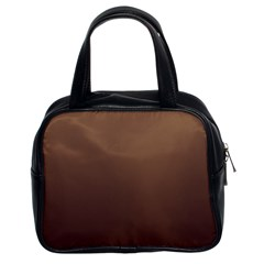 Chamoisee To Seal Brown Gradient Classic Handbag (two Sides)
