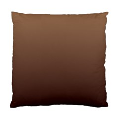 Chamoisee To Seal Brown Gradient Cushion Case (Two Sides)