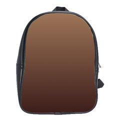 Chamoisee To Seal Brown Gradient School Bag (Large)