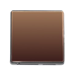 Chamoisee To Seal Brown Gradient Memory Card Reader With Storage (square)