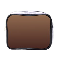 Chamoisee To Seal Brown Gradient Mini Travel Toiletry Bag (one Side)