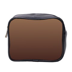Chamoisee To Seal Brown Gradient Mini Travel Toiletry Bag (Two Sides)