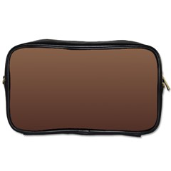 Chamoisee To Seal Brown Gradient Travel Toiletry Bag (Two Sides)
