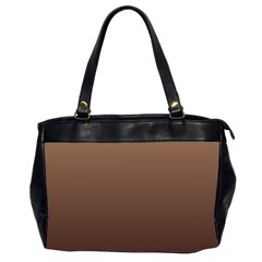 Chamoisee To Seal Brown Gradient Oversize Office Handbag (two Sides)