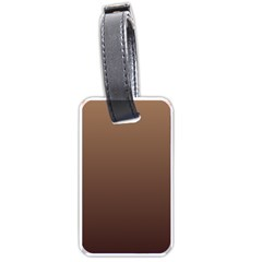 Chamoisee To Seal Brown Gradient Luggage Tag (Two Sides)