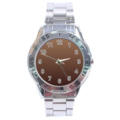 Chamoisee To Seal Brown Gradient Stainless Steel Watch (Men s)