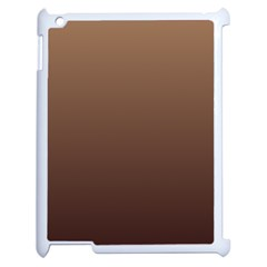 Chamoisee To Seal Brown Gradient Apple Ipad 2 Case (white)