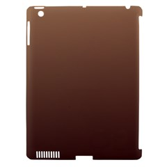 Chamoisee To Seal Brown Gradient Apple Ipad 3/4 Hardshell Case (compatible With Smart Cover)