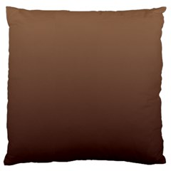 Chamoisee To Seal Brown Gradient Large Cushion Case (two Sides)