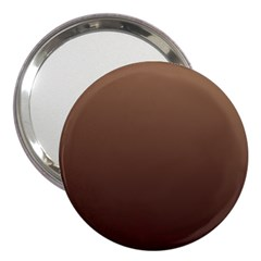 Chamoisee To Seal Brown Gradient 3  Handbag Mirror