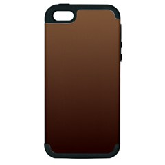 Chamoisee To Seal Brown Gradient Apple Iphone 5 Hardshell Case (pc+silicone)