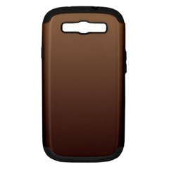 Chamoisee To Seal Brown Gradient Samsung Galaxy S Iii Hardshell Case (pc+silicone)