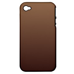 Chamoisee To Seal Brown Gradient Apple iPhone 4/4S Hardshell Case (PC+Silicone)