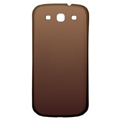 Chamoisee To Seal Brown Gradient Samsung Galaxy S3 S III Classic Hardshell Back Case
