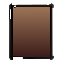 Chamoisee To Seal Brown Gradient Apple iPad 3/4 Case (Black)