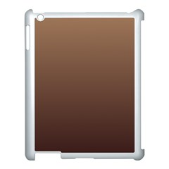 Chamoisee To Seal Brown Gradient Apple iPad 3/4 Case (White)