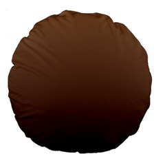 Chamoisee To Seal Brown Gradient 18  Premium Round Cushion