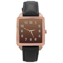Chamoisee To Seal Brown Gradient Rose Gold Leather Watch