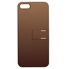 Chamoisee To Seal Brown Gradient Apple iPhone 5 Hardshell Case with Stand