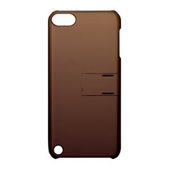 Chamoisee To Seal Brown Gradient Apple iPod Touch 5 Hardshell Case with Stand