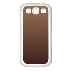 Chamoisee To Seal Brown Gradient Samsung Galaxy S3 Back Case (White)